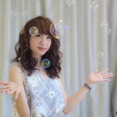 大人女子 ヘアアレンジ ガーリー ロング ヘアスタイルや髪型の写真・画像