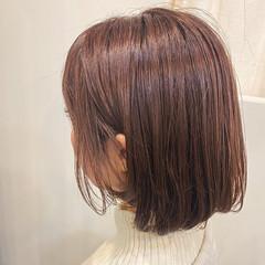 大人可愛い 大人かわいい ピンクアッシュ フェミニン ヘアスタイルや髪型の写真・画像