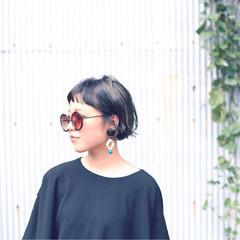 黒髪 アッシュ 色気 ストリート ヘアスタイルや髪型の写真・画像