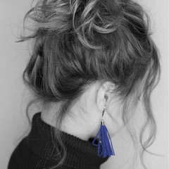 外国人風 モード ヘアアレンジ 大人かわいい ヘアスタイルや髪型の写真・画像
