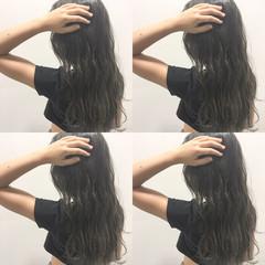 アッシュ ロング グラデーションカラー ハイライト ヘアスタイルや髪型の写真・画像