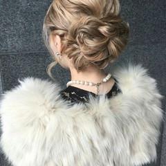 ミディアム ハーフアップ 簡単ヘアアレンジ ゆるふわ ヘアスタイルや髪型の写真・画像