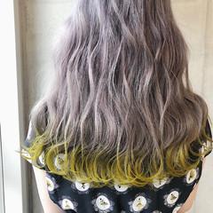 ロング 外国人風カラー グレージュ グレー ヘアスタイルや髪型の写真・画像