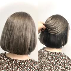 大人可愛い 切りっぱなしボブ ナチュラル ボブ ヘアスタイルや髪型の写真・画像