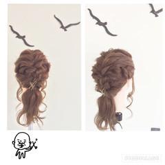 ヘアアクセ ヘアピン くるりんぱ ヘアアレンジ ヘアスタイルや髪型の写真・画像