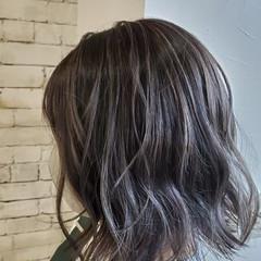 ハイライト コントラストハイライト モード ボブ ヘアスタイルや髪型の写真・画像