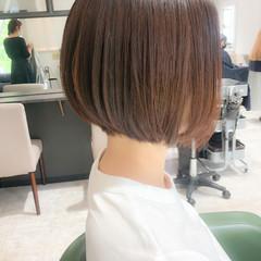 透明感カラー 福岡市 前下がりボブ 前下がりショート ヘアスタイルや髪型の写真・画像