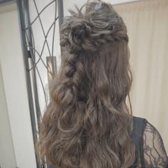 ヘアアレンジ エレガント 結婚式 ハーフアップ ヘアスタイルや髪型の写真・画像
