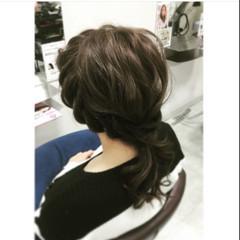 簡単ヘアアレンジ ブルージュ 波ウェーブ ショート ヘアスタイルや髪型の写真・画像