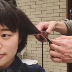 ストリート ストレート ふわふわ ボブ ヘアスタイルや髪型の写真・画像