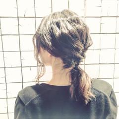 ショート ヘアアレンジ ミディアム 暗髪 ヘアスタイルや髪型の写真・画像