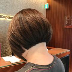 前下がりボブ ショートボブ ミニボブ まとまるボブ ヘアスタイルや髪型の写真・画像