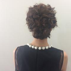 ヘアアレンジ 女子会 結婚式 セミロング ヘアスタイルや髪型の写真・画像