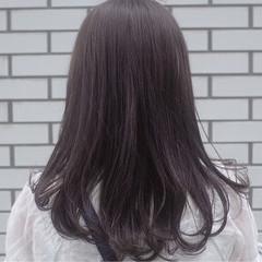 セミロング コンサバ イルミナカラー アッシュ ヘアスタイルや髪型の写真・画像