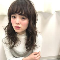 ニュアンス 前髪あり 春 フェミニン ヘアスタイルや髪型の写真・画像