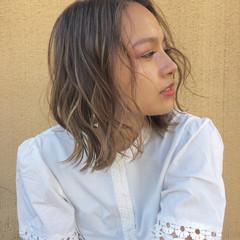 ミディアム ナチュラル 透明感 外国人風 ヘアスタイルや髪型の写真・画像