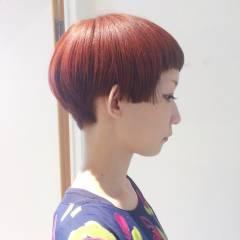 ショート ストリート ウェットヘア パンク ヘアスタイルや髪型の写真・画像
