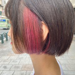 ラベンダーピンク ナチュラル ブリーチカラー ブリーチ ヘアスタイルや髪型の写真・画像