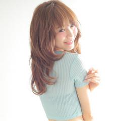 ガーリー セミロング 外国人風 渋谷系 ヘアスタイルや髪型の写真・画像