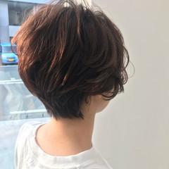 ハイライト ショート ショートボブ ショートヘア ヘアスタイルや髪型の写真・画像