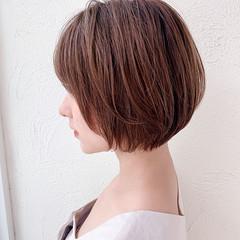 ショートヘア ナチュラル まとまるボブ ショートボブ ヘアスタイルや髪型の写真・画像