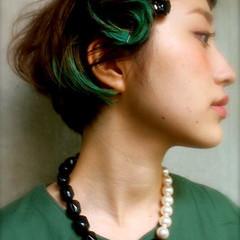 大人かわいい ショート ヘアアレンジ 外国人風 ヘアスタイルや髪型の写真・画像