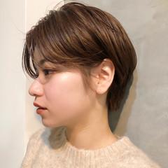 ナチュラル ショート 外国人風カラー センターパート ヘアスタイルや髪型の写真・画像