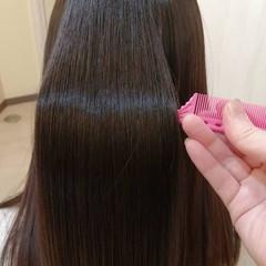 縮毛矯正 艶髪 ロング 大人可愛い ヘアスタイルや髪型の写真・画像