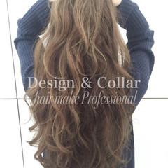 大人かわいい グラデーションカラー ストリート ロング ヘアスタイルや髪型の写真・画像