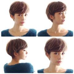 ショート ベリーショート 小顔ショート ショートヘア ヘアスタイルや髪型の写真・画像