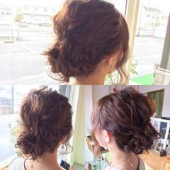 大人かわいい 結婚式 セミロング ショート ヘアスタイルや髪型の写真・画像
