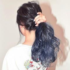 簡単ヘアアレンジ ストリート アウトドア 秋 ヘアスタイルや髪型の写真・画像
