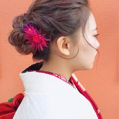 ナチュラル ヘアアレンジ 成人式ヘア 和装 ヘアスタイルや髪型の写真・画像