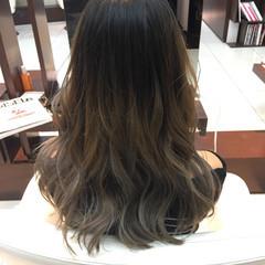 かわいい ハイライト ロング 秋 ヘアスタイルや髪型の写真・画像