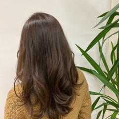 ミディアム 大人ミディアム ミルクティーベージュ ベージュ ヘアスタイルや髪型の写真・画像