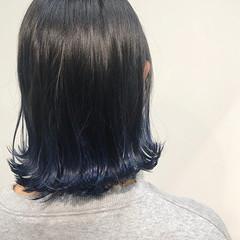 外ハネ ガーリー ボブ グラデーションボブ ヘアスタイルや髪型の写真・画像