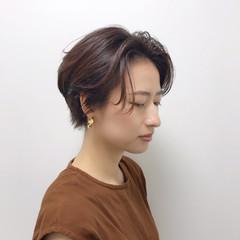 ピンク エレガント ショート ヘアアレンジ ヘアスタイルや髪型の写真・画像