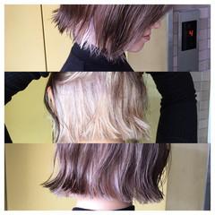 色気 インナーカラー ストリート ボブ ヘアスタイルや髪型の写真・画像