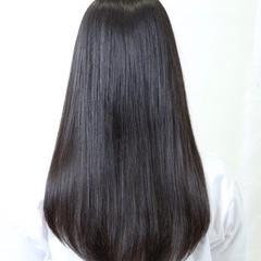 サラサラ 黒髪 ストレート ロング ヘアスタイルや髪型の写真・画像