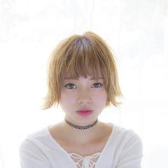 モード ブリーチ ショート 外国人風 ヘアスタイルや髪型の写真・画像