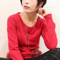 ガーリー 大人かわいい ショート ピンク ヘアスタイルや髪型の写真・画像