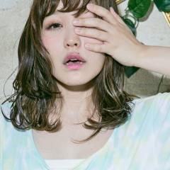 外国人風カラー ナチュラル セミロング 外国人風 ヘアスタイルや髪型の写真・画像