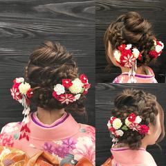 キュート ヘアアレンジ ロング フェミニン ヘアスタイルや髪型の写真・画像