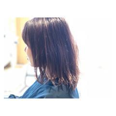 ピンクアッシュ ハイライト フェミニン ベージュ ヘアスタイルや髪型の写真・画像