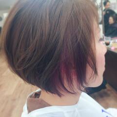 ショート パープル ピンク モード ヘアスタイルや髪型の写真・画像