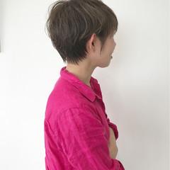 小顔 ショート こなれ感 外国人風 ヘアスタイルや髪型の写真・画像