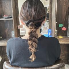 三つ編み 編み込み 簡単ヘアアレンジ ヘアアレンジ ヘアスタイルや髪型の写真・画像