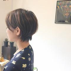 外国人風 ナチュラル ショート オフィス ヘアスタイルや髪型の写真・画像