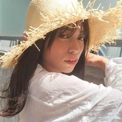 アンニュイほつれヘア シースルーバング ナチュラル ミディアム ヘアスタイルや髪型の写真・画像
