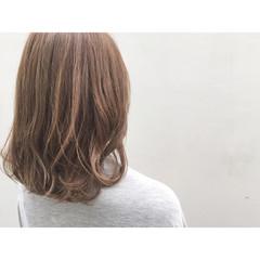 アッシュ イルミナカラー ナチュラル ゆるふわ ヘアスタイルや髪型の写真・画像